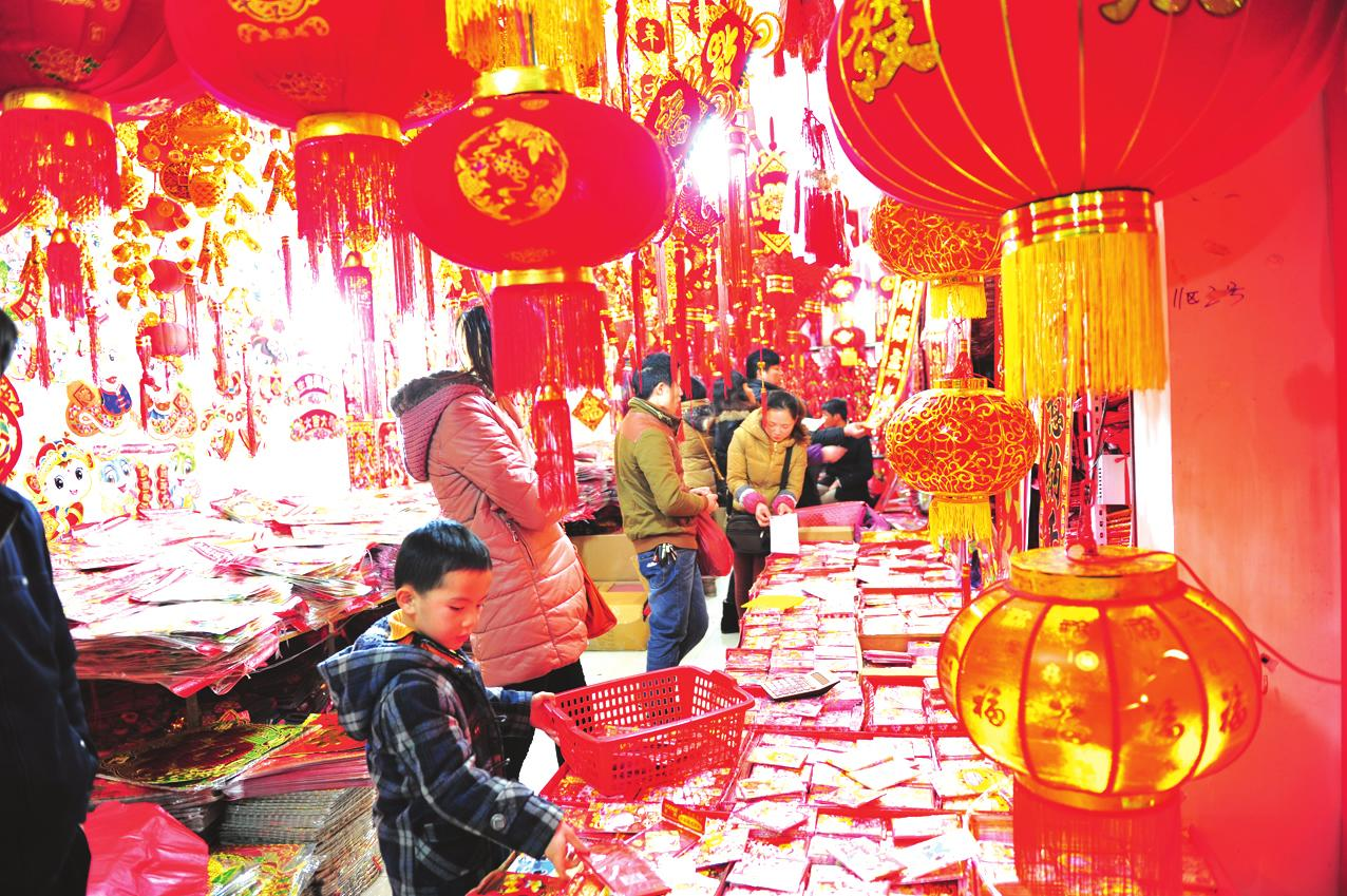 CNY shopping in market