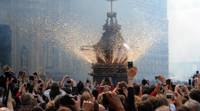 Fireworks Easter Italy