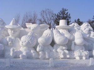 January - Moomen in Snew, Harbin International Ice and Snow Sculpture
